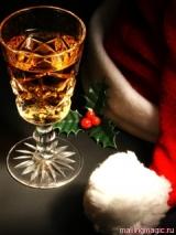 новогодняя картинка на телефон-бокал шампанского