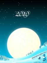 новогодняя картинка на телефон луна